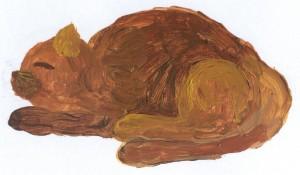 Katze im Gedicht Die Sonne lacht, aufgewacht