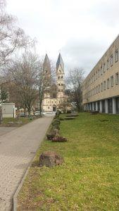 Basilika St. Kastor Deutsches Eck Rhein Koblenz bei Drachenwolke Geschichte