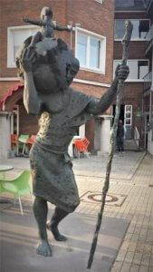Christopherus des Bildhauers Patrick Beverloo in Emmerich
