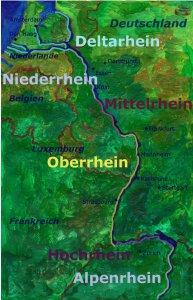Rhein Übersichtskarte