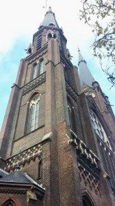 Kirche in Innenstadt Delft am Rhein Schie Kanal