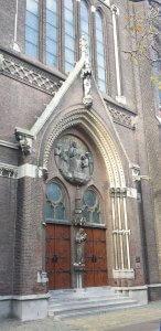 Maria van Jesse Kirche in Delft am Rhein Schie Kanal