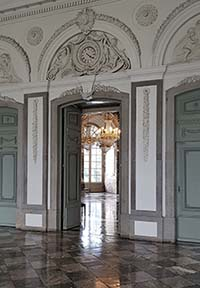Innenräume bei Schloss Benrath bei Düsseldorf
