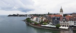 Stadtansicht Friedrichshafen am Bodensee vom Moleturm / Aussichtsturm