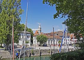 Stadtansicht vom Hafen Überlingen