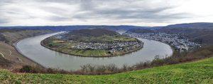 Bopparder Hamm klein vom Rheinsteig aus