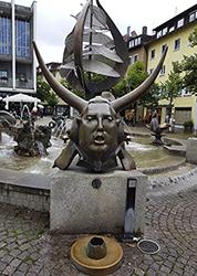 Buchhornbrunnen am Adenauerplatz in Friedrichshafen