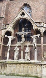 Kreuzigung - Darstellung an der St. Lambertuskirche
