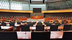 Plenarsaal des Landtages NRW