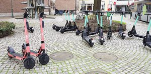 Roller in der Stadt Düsseldorf