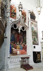 Altar/ Relief im Thomaschor