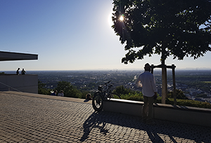 Aussicht vom Turmberg Durlach auf Karlsruhe