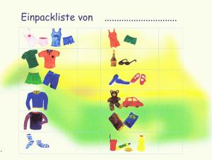 Kinder Einpackliste für Sommerurlaub