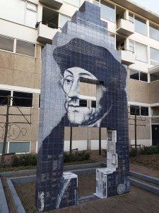 Erasmus Kunstwerk in Rotterdam bei Drachenwolke Geschichten