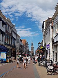 Fußgängerzone in der Innenstadt von Kampen