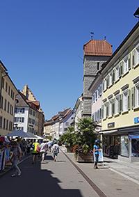 Fußgängerzone mit Pfenningturm