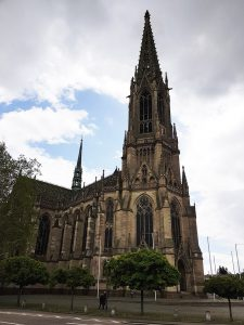 Evangelische Gedächtniskirche mit Luther Denkmal in Speyer