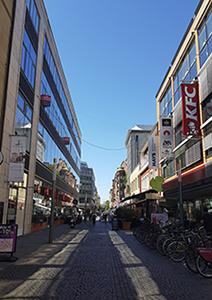 Innenstadt Karlsruhe mit Fußgängerzone
