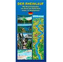 Landkarte Rheinlauf - von Basel bis Rotterdam
