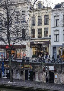 Gracht in der Innenstadt von Utrecht