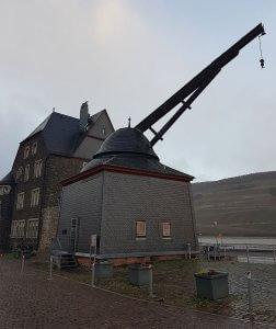 Alte Kran in Bingen am Rhein bei Drachenwolke Geschichten und Infos, Sagen und Legenden rund um den Rhein