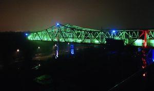 Landschaftspark Nord bei Nacht in Duisburg am Rhein / Duisburg Industriekultur