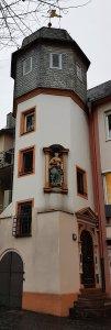 Maria Statue Mainz bei Drachenwolke Geschichte und Sagen & Legenden vom Rhein