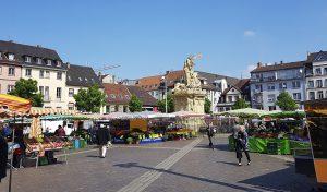 Markt in Mannheim am Rhein