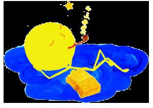 Gedicht Mond / Gutenachtgeschichte, schlafender Mond