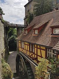 Mühle mit Burg in Meersburg am Bodensee