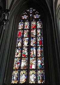 Fenster im Stil der Gotik des Konstanzer Münsters