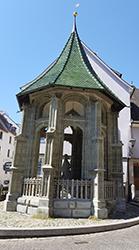 Der Pavillon Ölberg südlich des Überdinger Münsters St. Nikolaus