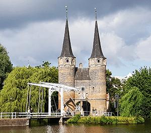 DIe Sehenswürdigkeit Oostport in Delft