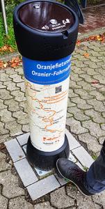 Fahrradroute Oranjefietsroute