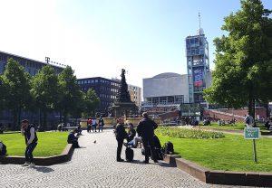 Quadratestadt Mannheim am Rhein - Paradeplatz mit Stadthaus