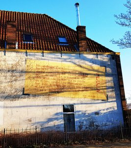 Fassadenmalerei Leiden am Rhein bei Drachenwolke Geschichten & Sagen, Legenden und Info rund um den Rhein