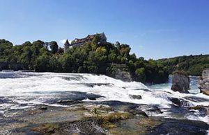 Rheinfall mit Schloss Laufen bei der Sage vom Rheinfall