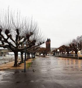 Rheinpromenade Worms am Rhein bei Drachenwolke Geschichten