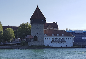 Rheintorturm am Rhein in Konstanz