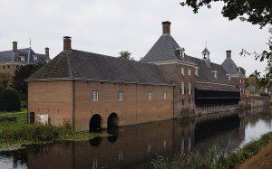Seitenansicht Schloss Amerongen, wo auch Wilhelm II wohnte.