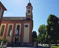 Barocke Schlosskirche Insel Mainau von außen