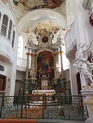 Barocke Schlosskirche Insel Mainau Innen