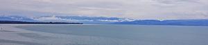 Sicht vom Moleturm zu den Alpen