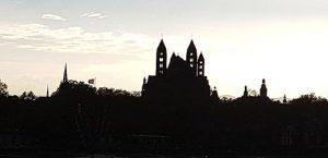 Silhouette von Speyer und den Sehenswürdigkeiten