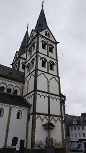 Zweitürmige St Severus Kirche in Boppard