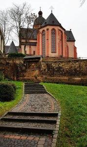 Pfarrkirche St. Stephan Mainz bei Drachenwolke Geschichten und Sagen & Legenden rund um den Rhein