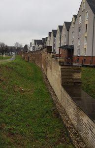 Stadtmauer in Duisburg am Rhein