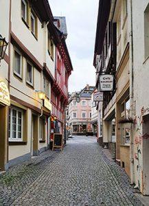 Fußgängerzone / Straße in der Innenstadt von Boppard