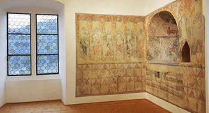 Wandmalerei im Stadtmuseum der Burg von Boppard