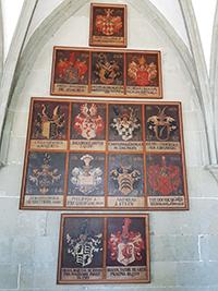 Wappentafel im Kreuzgang des Konstanzer Münsters